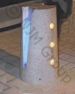 Customisable VBIED light bollards.