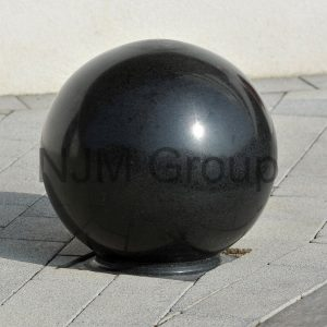 Designer bollards in charcoal grey.