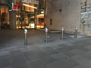 The site needed something more than regular bollards. It needed designer VBIED bollards.