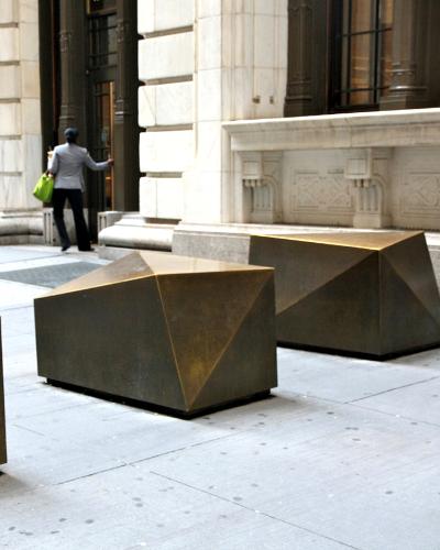 Wall street bollards is a visually appealing Hostile Vehicle Mitigation (HVM) measure.